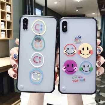 IMIDO Nouveau Sans Cadre Dessin Animé Téléphone étuis pour iphone 7 6 6S 8 Plus XS Max Couples Lanière étuis pour iphone X XR XS PC Couverture Arrière