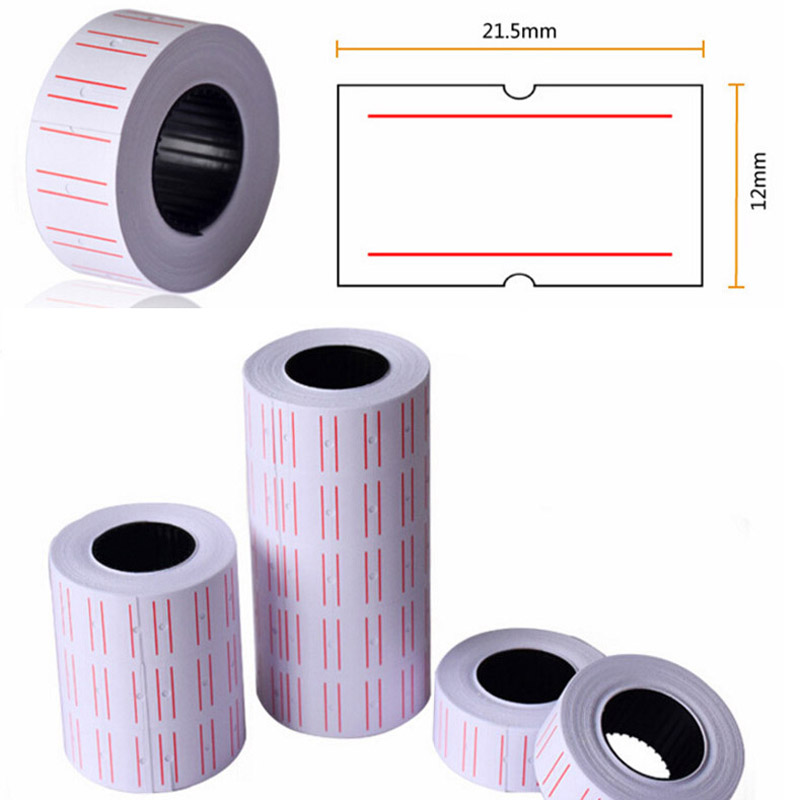 10 Rolls Useful Paper Tag Price Label Sticker Single Row Denominated paper Business Free Shipping Adhesive Stickers Papelaria