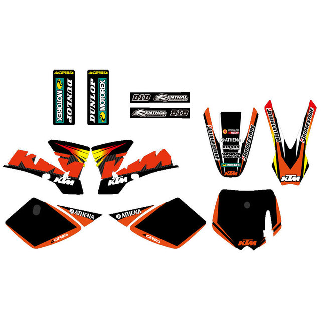 0252 new style team decals stickers graphics kits for ktm 50 sx 2002 2003 2004 2005