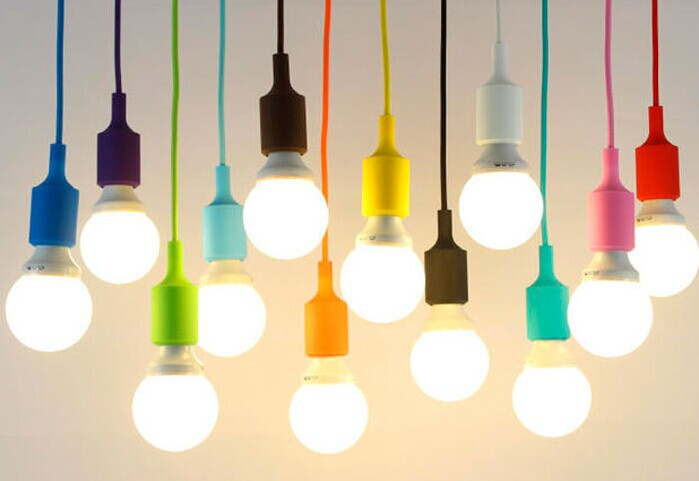 Creative Silica Gel Color Led Pendant Lamps,12 Kinds Of Color,For Kids Room Bar Aisle,E27 Bulb Included,AC 90V~260V  цена и фото