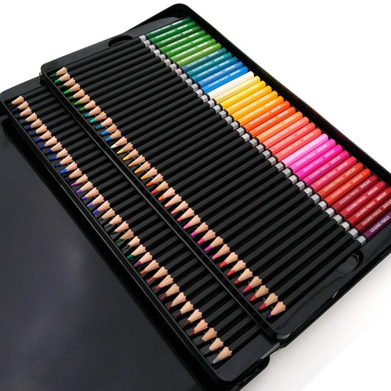 100 kolorowych ołówków Fine Art Lapis de kor 72 rdzeni Profesjonalne kolorowe ołówki 72 Lapis Kredki artystyczne Szkic ołówki Hurtownia