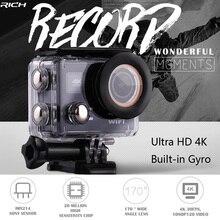 RICH Action font b Camera b font Ultra HD 4K 30FPS 12MP Wifi IPX8 Waterproof 45M