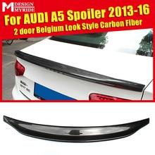Carbon Fiber Rear Trunk Boot Lip Wing Spoiler For Audi A5 A5Q Coupe standard 2-Door 2013-16 Caracter Style Boot Lip wing Spoiler цена в Москве и Питере