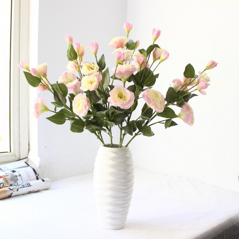 Aliexpress buy 8pcs graceful spring lisianthus artificial silk aliexpress buy 8pcs graceful spring lisianthus artificial silk flowers high simulation high quality wholesale wedding decoration from reliable mightylinksfo