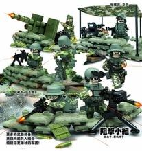 SWAT Military Minifigures World War II WW2 The Task Force Jungle Commando Army Camp Building Block Bricks Toys Brinquedo