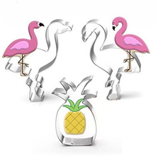 TTLIFE Flamingo Shape Cookie Cutter Pineapple Stainless Steel Biscuit Mold Fondant Cake Pastry Baking Moulds Kitchen Tools