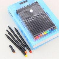 12/24 цветов 0,4 мм тонкий наконечник художественный маркер ручка сверхтонкая Fineliner ручки гладкая эскизная ручка художественные принадлежност...