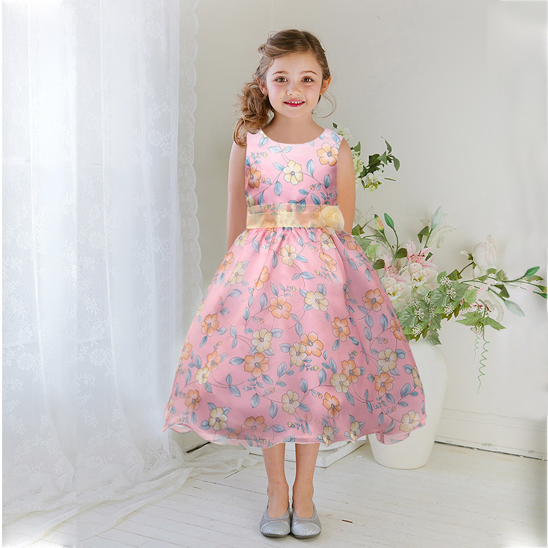 ФОТО Summer Baby Girls Dresses Brand Princess Dress Girl Clothes Kids Dresses Children Costumes 3-14 Years Old