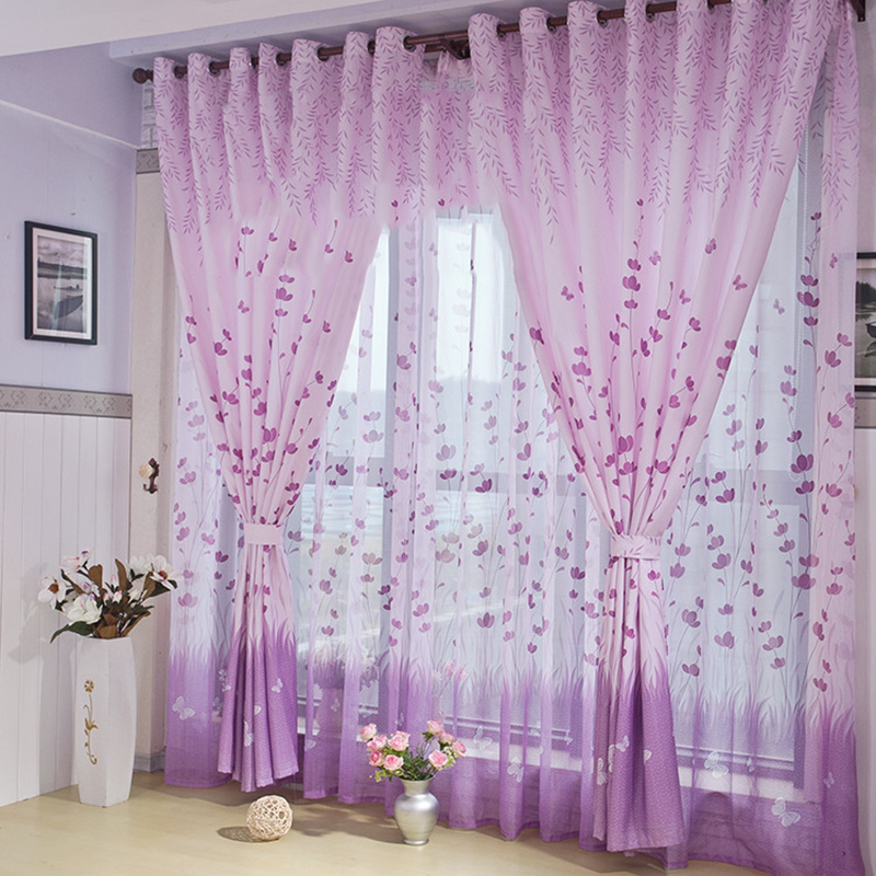 x cm floral cortina de la ventana de navidad para nios habitacin moderna cortinas cortinas para