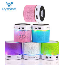 Hot Lymoc LED MINI Bluetooth Speaker BS008 Wireless Portable Music Speaker Sound Box Subwoofer TF USB Loudspeakers For phone PC