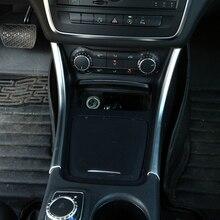 2pcs Chrome Center Console Panel Trim Decoration For Mercedes Benz CLA 200 220 260 Car Accessory