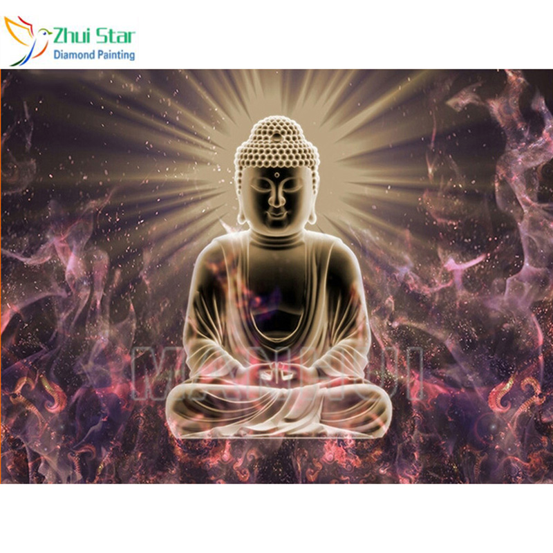 2018 5D Diamond mosaic Diamond embroidery Full picture of rhinestones 5d Buddha diy diamond painting Sets for embroidery gx