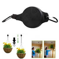 2PCS Plastic Retractable Pulley Hanging Basket Pull Down Hanger Garden Flower Plant Baskets Pots Garden Tools support under 15kg