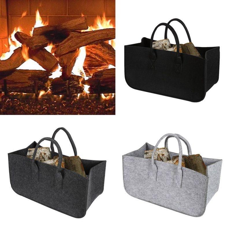 Felt bag light gray Felt basket Fireplace bag light gray Fireplace basket Basket Felt Newspaper rack Time basket C012 wool felt cowboy hat stetson black 50cm