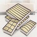 4 UNIDS Ropa Interior Sujetador Caja De Almacenamiento Organizador 2 Colores Beige/Rosa Bufandas Cajas Organizadores Del Cajón Del Armario Para La Ropa Interior Calcetines sujetador