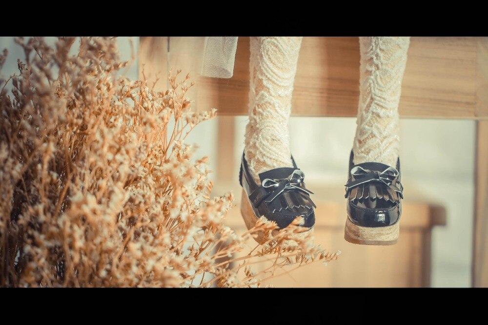 BJD doll shoes brilliant black shoes for 1 3 1 4 BJD DD SD10 SD13 MSD