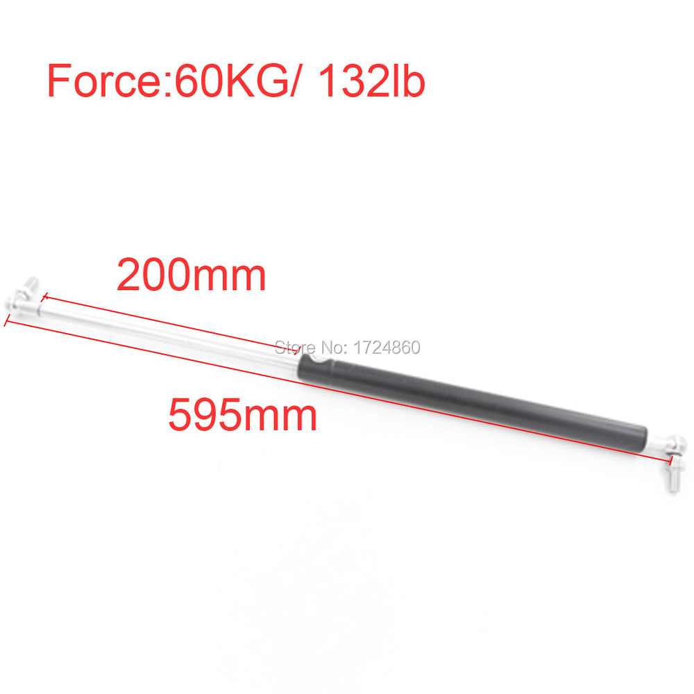 High Quality Force 60KG 132lb in Springs Auto Gas Springs Spring Lift Gas Springs 200mm Stroke M8 Hole Diameter 60kg 132lb 400mm force 160mm long stroke auto gas spring hood lift support 400 160mm central distance m8 gas springs in springs