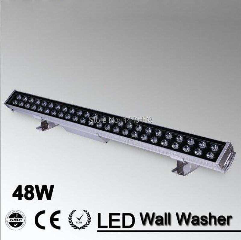48 Вт светодио дный наводнение пятно света светодио дный прожекторы свет 48 Вт 1000 мм * 70*55 мм AC85 265V IP65 Водонепроницаемый светодио дный настенны