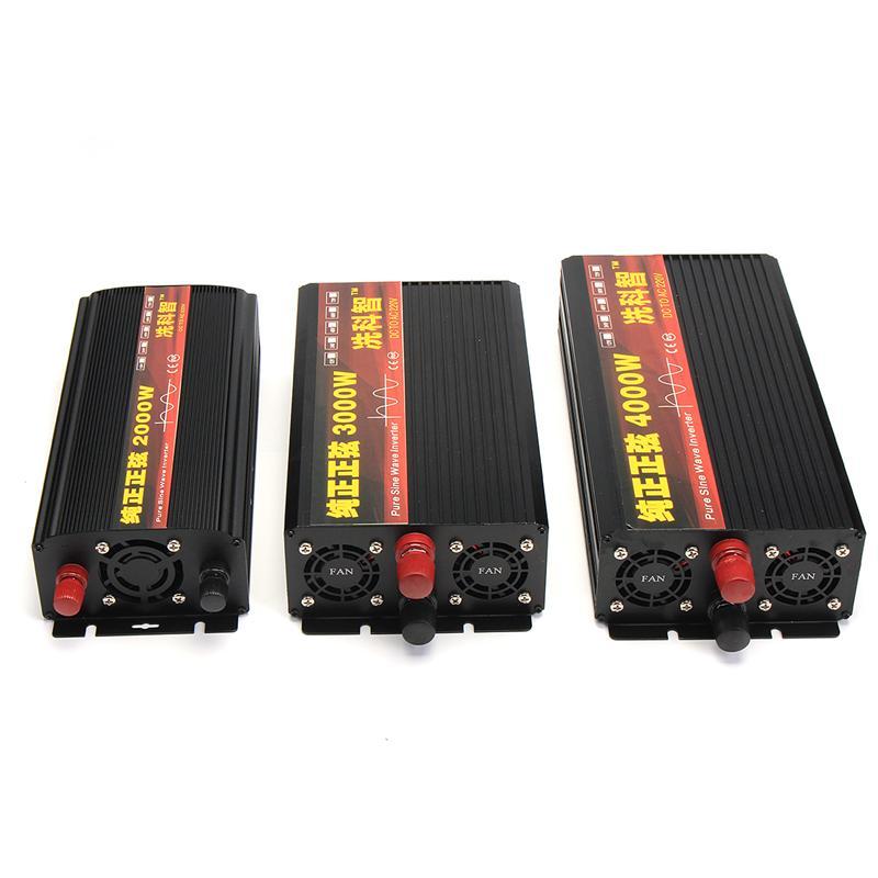 Inverter 12V 220V 2000/3000/4000W Voltage transformer Pure Sine Wave Power Inverter DC12V to AC 220V Converter + 2 LED Display 25