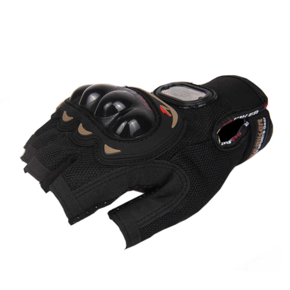プロバイカーのオートバイの手袋バイクレースハーフフィンガー夏のモト手袋バイクライディングレー自転車保護手袋 M-XXL