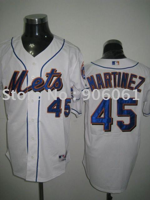 Free shipping-New York Mets Jerseys #45 MARTINEZ,Baseball jerseys, cheap Jerseys.Mix order