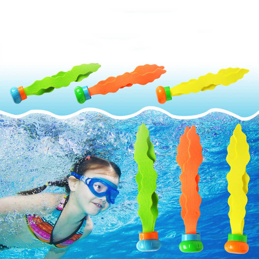 Juego de buceo, juego de buceo, juguetes de agua, varilla de planta de mar, accesorios de piscina de verano, juego de buceo