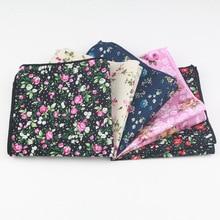 100% cotton Hankerchief  ladies hankies Scarves Vintage Cotton Hankies Mens Pocket Square Handkerchiefs Rose Flower Paisley