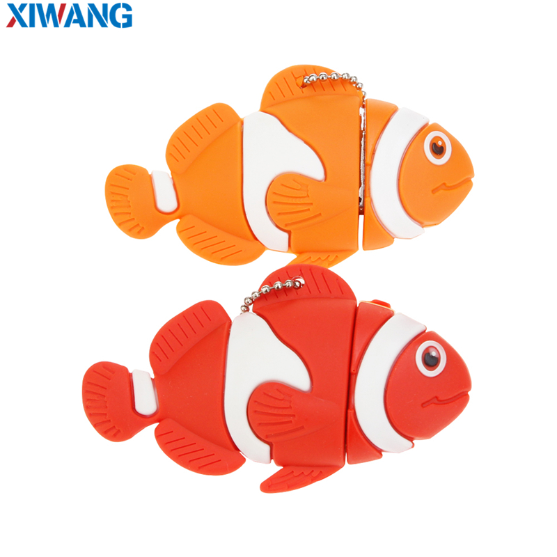 Image 2 - Cartoon nemo fish pen drive 8GB 16GB pendrive usb flash drive 128GB 64GB 32GB waterproof flash memory memory stick free shipping-in USB Flash Drives from Computer & Office