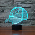 Toronto Blue Jays MLB Boné de Beisebol 3D Luz 7 Cores LED Lâmpada de mesa Colorido Night Light como Lâmpada de Cabeceira Luz Bebê Dormir 3484