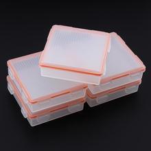 5 יח\חבילה Soshine קשיח נייד פלסטיק מקרה מחזיק תיבת אחסון עם עמיד למים IP66 עבור 4x18650 סוללות