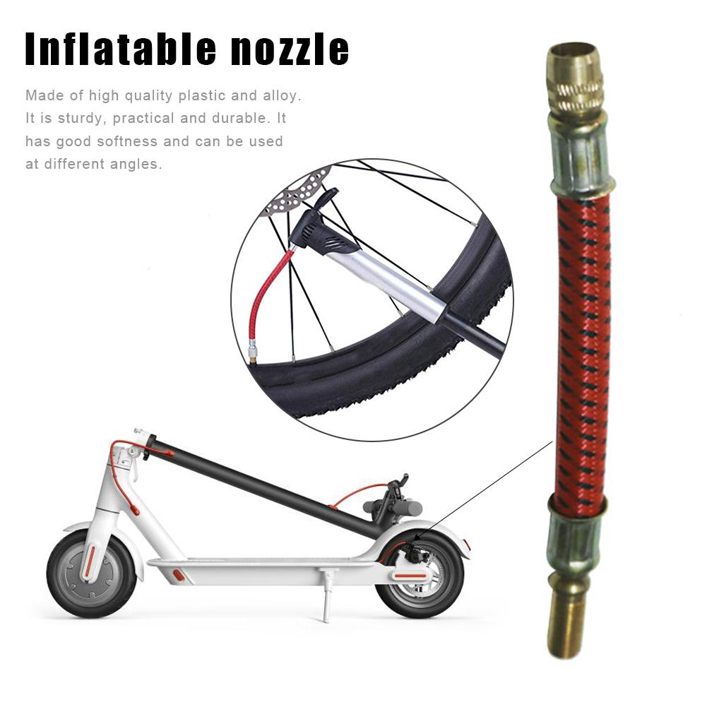 Extension Inflatable Nozzle For Xiaomi M365 Electric Scooter Electric Bicycle Inflatable Auxiliary Air Extension Mouth Accessory