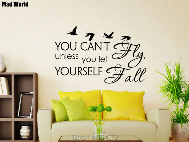 Mad World You can\'t fly unless you let yourself fall Wall Art ...
