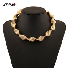 Lzhlq стимпанк волнистый воротник массивное ожерелье женское