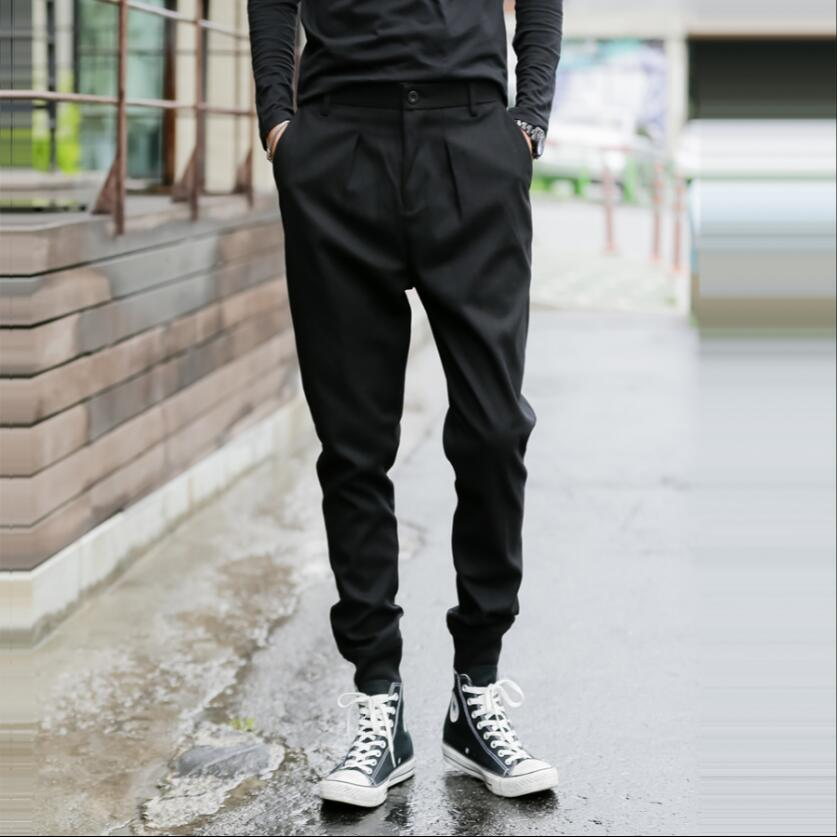 Trousers Feet-Harem-Pants Slim-Fit Korean-Version Winter Boys Large-Size Men's New 27-44