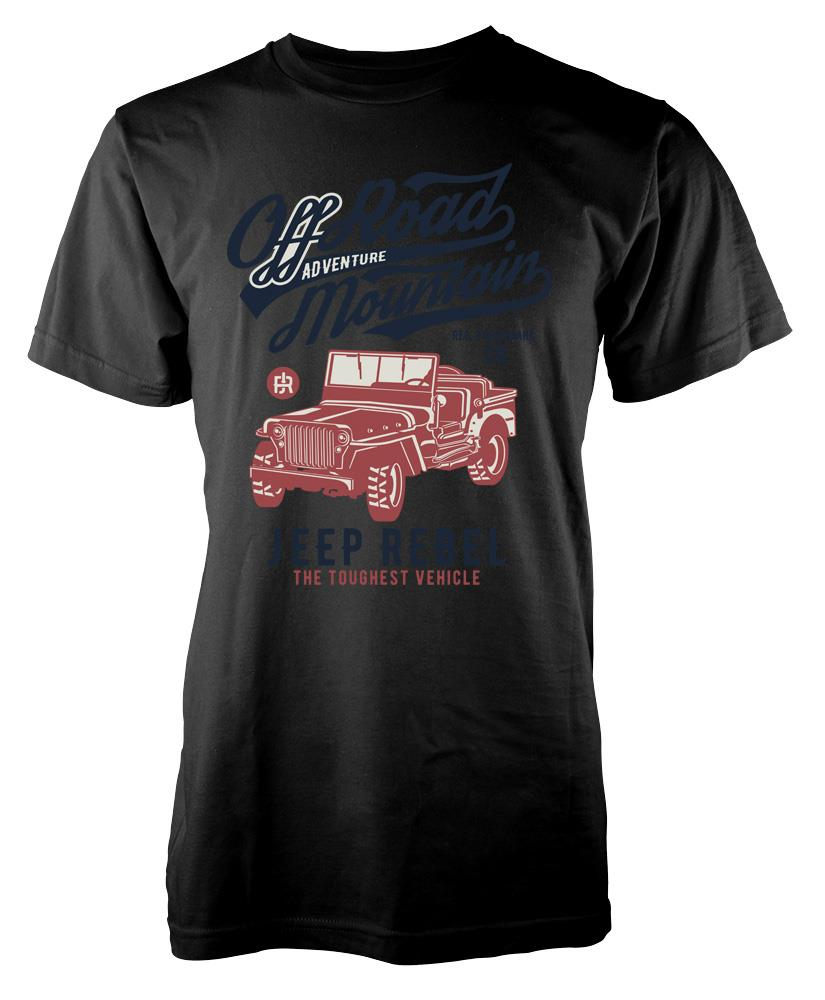2018 Новые мужские футболки BNWT Off Road Jeep Mountain Adventure Rebel 4x4 взрослых Футболка S-XXL 100% Хлопковые фирменные носки Новые футболки