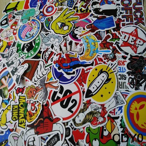 50pcs skateboard applique vinyl car sticker skate graffiti laptop 50pcs skateboard applique vinyl car sticker skate graffiti laptop luggage car bomb decal altavistaventures Images