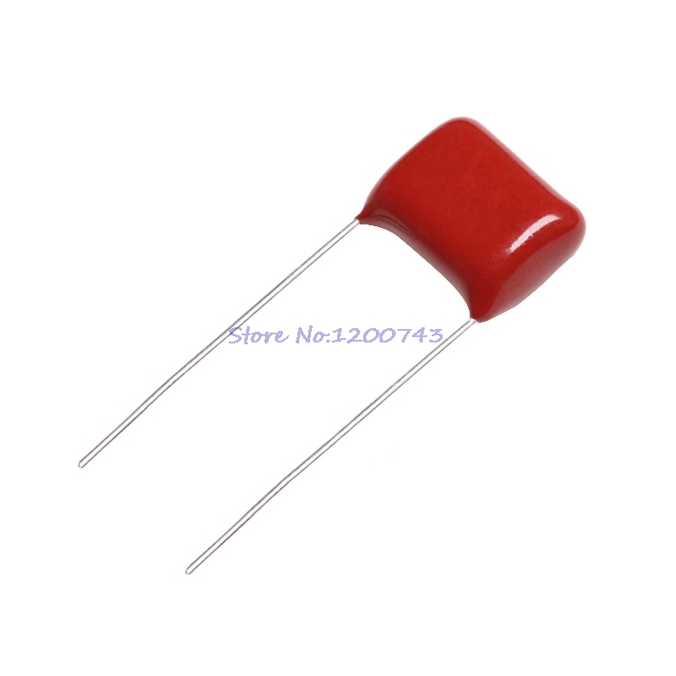 50pcs/lot 100V104J Pitch 5mm 100NF 0.1UF 100V 104 CBB Polypropylene Film Capacitor