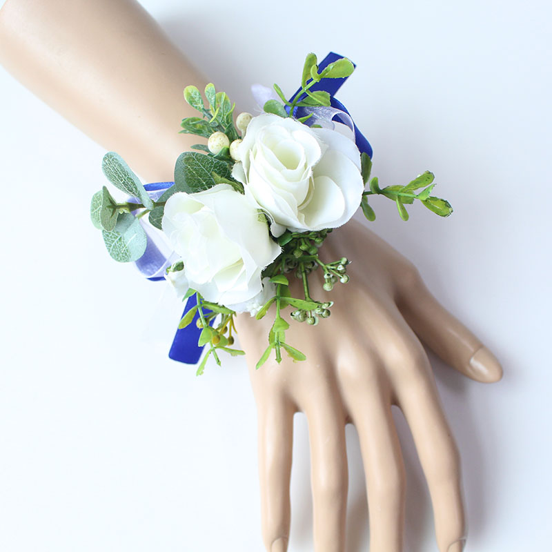Wrist Corsage Bracelet wedding bridesmaid wrist flower  (20)