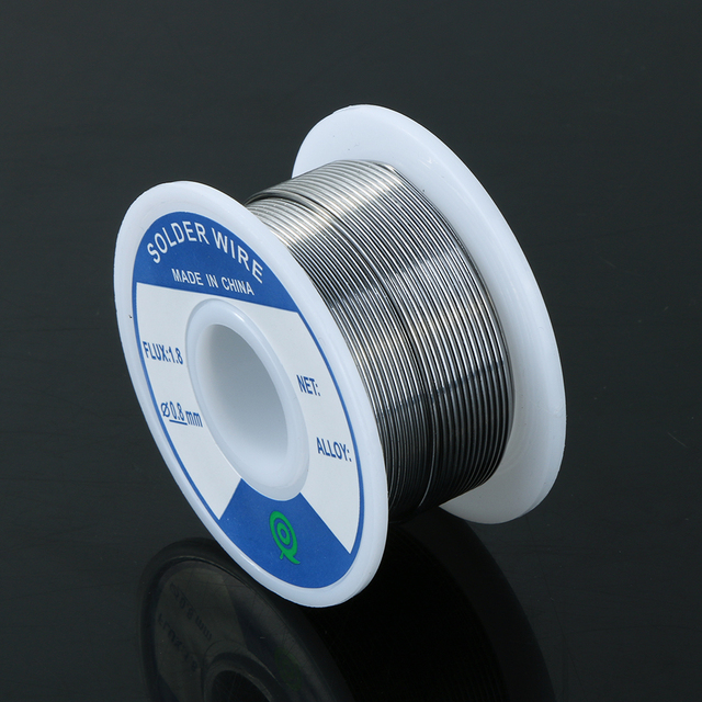Lead-Free Tin Silver Solder Wire Flux 1.8 3% Silver 0.8mm Speaker DIY Material Solder Soldering Wire Roll 1