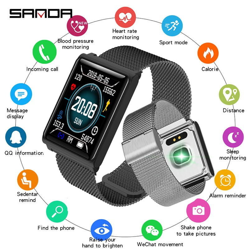 SANDA Full Touch Screen Smartwatch Bluetooth for Android iPhone Men Watch Women Watches IP67 Fitness Bracelet reloj inteligente SANDA Full Touch Screen Smartwatch Bluetooth for Android iPhone Men Watch Women Watches IP67 Fitness Bracelet reloj inteligente