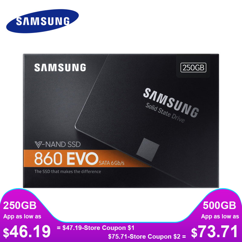SAMSUNG SSD 860 EVO 250GB 500GB Internal Solid State Disk HDD Hard Drive SATA3 2.5 Inch Laptop Desktop PC TLC Disco Duro 250 GB(China)