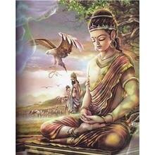 Yikee алмазная вышивка Будды квадратная Алмазная картина стразы