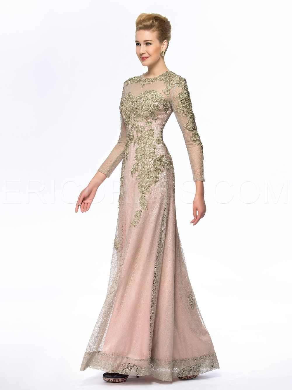 ... Sheath Floor Length Gold Mother of the Bride Dresses Pant Suits Plus  Size Groom Long Sleeve ... 9077f59089a5