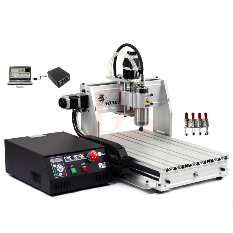 3axis cnc router 4030 with 1500W water cooling spindle and USB port no tax to Europe