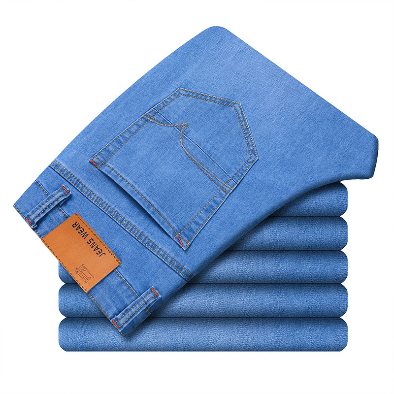 New Jeans For Mens Slim Fit Pants Classic Jeans Male Denim Jeans Business Trousers Casual Skinny Straight Elasticity Pants