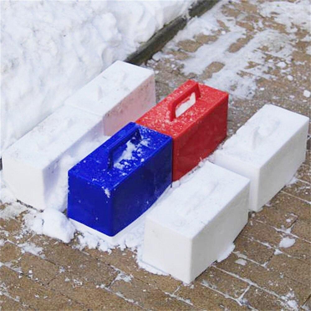 1 pc Crianças Esqui Na Neve Jogando molde bloco de Moldagem de Tijolos Edifício Modelo de Neve Neve Neve inverno criança ao ar livre brinquedos Aleatório cor