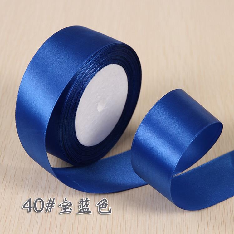6 мм 1 см 1,5 см 2 см 2,5 см 4 5 см атласными лентами DIY искусственный шелк розы Ремесла поставок швейной фурнитуры Скрапбукинг материал - Цвет: Royal Blue