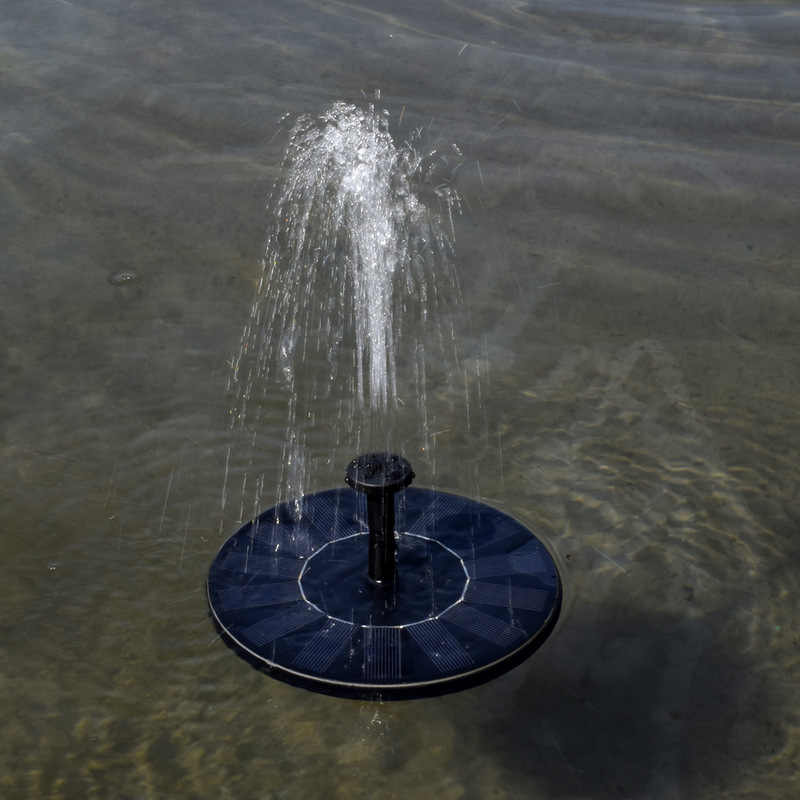 Diameter 160 Mm Solar Powered Air Mancur Outdoor Mini Air Pompa Air Mancur untuk Lake Kolam Renang Berkebun Akuarium Taman Dekorasi