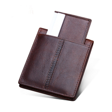 Premium 100% Genuine Leather Retro Men Wallets 2018 Carteira Masculina Couro New Arrivals Men Purse With Detachable Card Slots цены