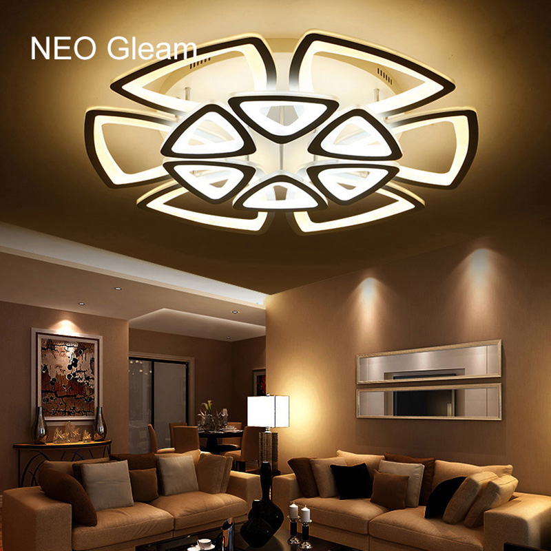 Minimalist modern led ceiling chandelier lights for living room bedroom ac 85 265v home for Ceiling lights for living room philippines